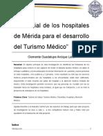 Potencial de Los Hospitales de Mérida Para El Desarrollo Del Turismo Médico