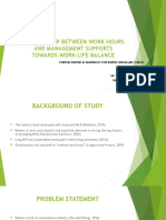 Relationship Between Work Hours and Management Supports Towards