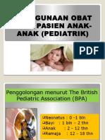 Penggunaan Obat Pada Anak