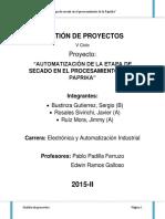 Automatización para un secador industrial de Ajipanca.