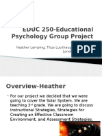 educ 250-educational psychology group project