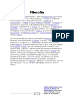 Filosofía 1011561