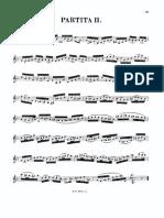 Partita II - Bach