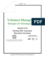 Session 1 - Working with Volunteers and Recruiting Volunteers ~ Volunteer management