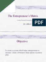 Entrepreneurship Matrix Blue Print