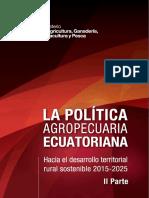 La Política Agropecuaria Al 2025 II Parte