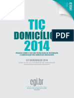 TIC Domicilios 2014 Livro Eletronico