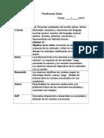 Planificación Diaria Musica Unidad 1 (2015)