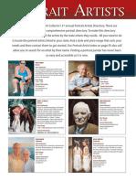PORTRAIT ARTIST Directory 2011 Paintings