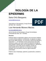 Embriologia de La Epidermis