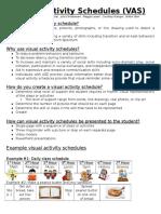 visual activity schedules  fact sheet