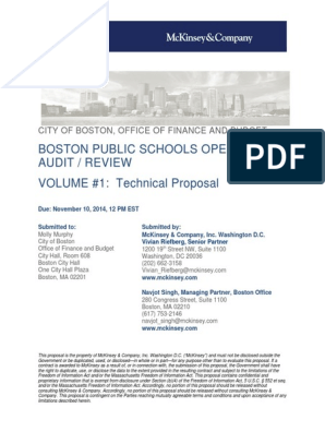 McKinsey Response to RFP | Mc Kinsey & Company | Strategic