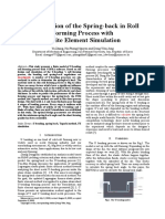 [English_corrected]Optimization of the Spring-back in Roll Forming Process With Finite Element Simulation_20160421(1)
