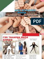 Kesehatan Reproduksi Remaja Girl