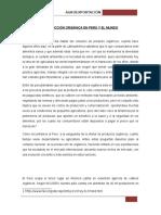 Producción Orgánica en Perú y El Mundo