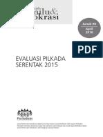Evaluasi Pilkada Serentak 2015