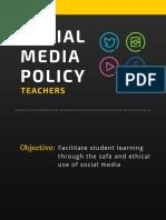 teacher social media policy