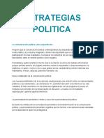 Estrategias Politica