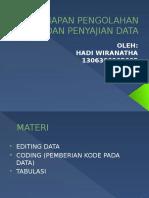 Tahapan Pengolahan Data Dan Penyajian Data Besok