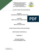 El Perfil de Egreso 1999 Analisis