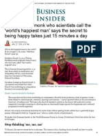 How to Be Happier According the World's Happiest Man - Business Insider