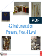 Pressure, Flow and Level Instrumentation