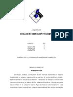 Asignatura Evaluacion Econ Financiera