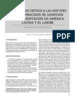 Un Analisis Critico a Las NIIF y a Los Procesos de Adopcion e Implementacion en America Latina y El Caribe