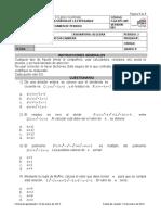 Examen 3 Periodo Algebra 8
