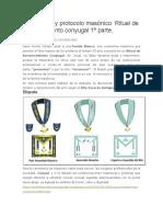 Ceremonial y protocolo masónico Ritual de reconocimiento conyugal 1ª parte..docx