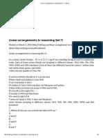 Linear Arrangements in Reasoning Set 11 - Cetking