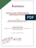 1.- Manual de Instalacion, Operacion y Mantenimiento de Quemador QE-100