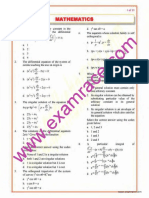 Mathematics Objective Questions Part 7