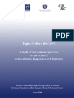 """Access to Justice in Central Asia"" Report"
