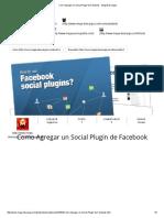 Como Agregar Un Social Plugin de Facebook - Mega Descargas