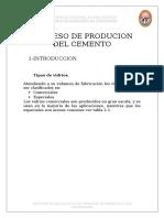 Proceso de Producion Del Cemento