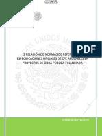 000805_000807_Relación de normas de referencia y especificaciones oficiales de cfe aplicables en proyectos de obra pública financiada.pdf