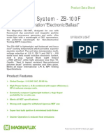 Black Light System- ZB100F With New Electronic Ballast Product Data Sheet - May 15