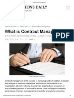 What is Contract Managemen
