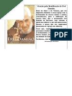 Oração Pela Beatificação de Frei Damião.