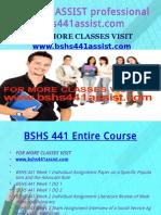 BSHS 441 ASSIST Professional Tutor Bshs441assist.com