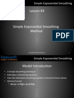 Forecast It 3. Simple Exponential Smoothing