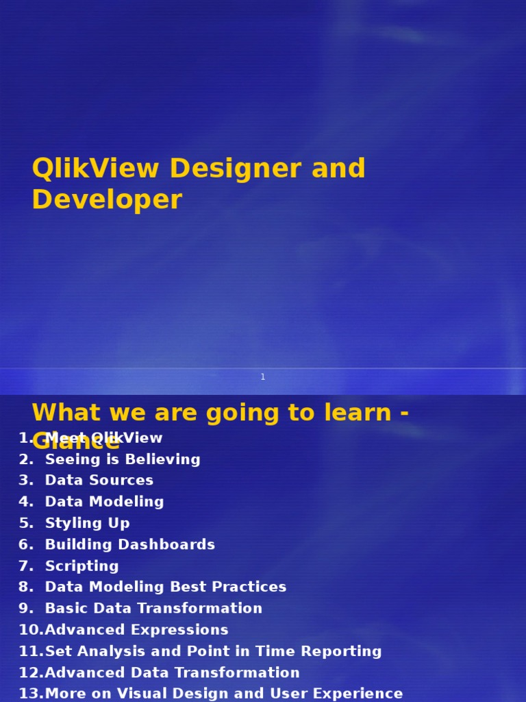 QlikView PPT   Databases   Business Intelligence