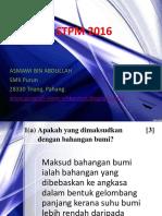 Skema Kertas Model 6 Geografi STPM Penggal 2 2016