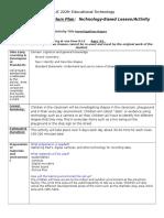 Ed Tech ECDE Activity Plan Investigating Shapes