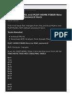 Tmp 7617 Pldt Home Dsl and Pldt Home Fiber New Default Wifi Password Hack 11508993826