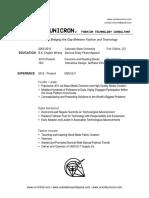 Unicron Resume