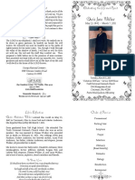 Doris Jean Walker of Cincinnati, Ohio - Funeral Program