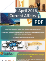 25 April 2016 Current Affair for Competition Exams