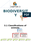 3.1 Classifications of Animals